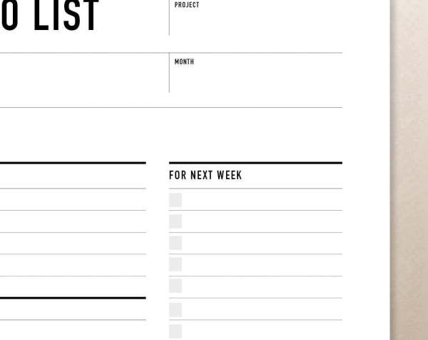 Printable Weekly To Do List  Planner  Rumble Design Store