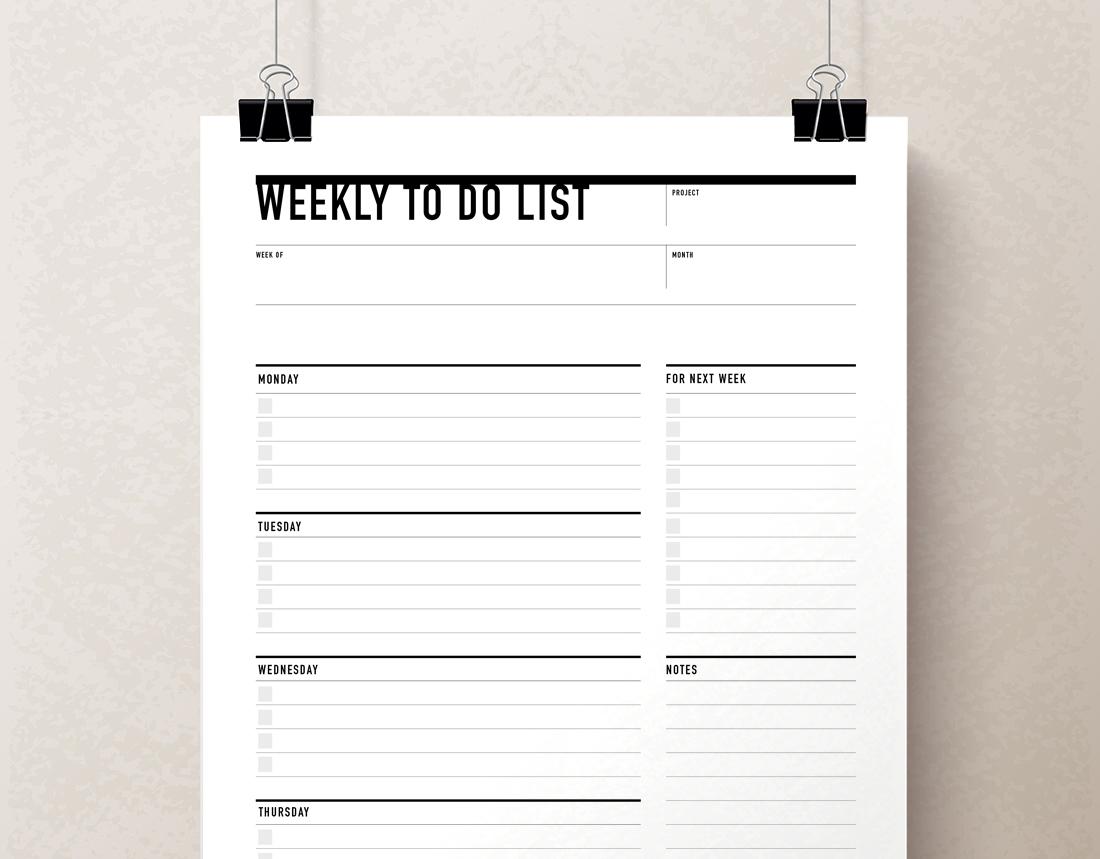 daily printable planner weekly planner
