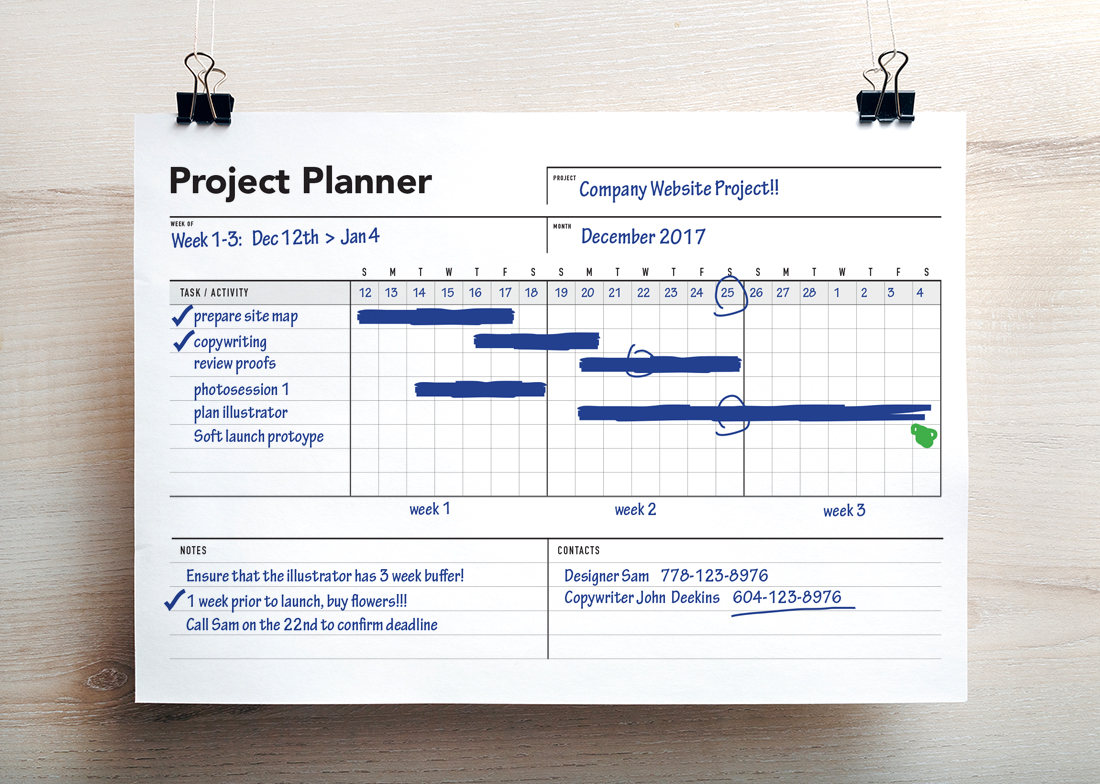 Ultimate project planner gantt chart rumble design store project planner project schedule gantt chart nvjuhfo Gallery