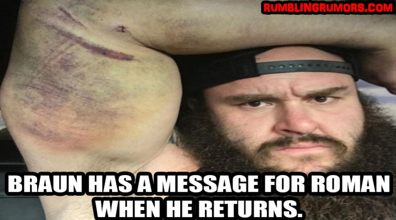 Braun Strowman Posts Picture After Surgery and Has a Message About His Return!