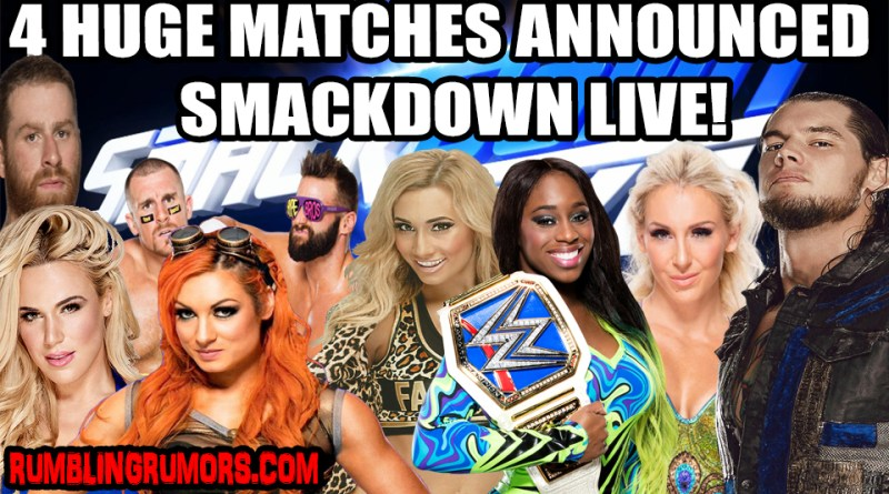 WWE has Announced four HUGE Matches For Next Week's Smackdown Live!