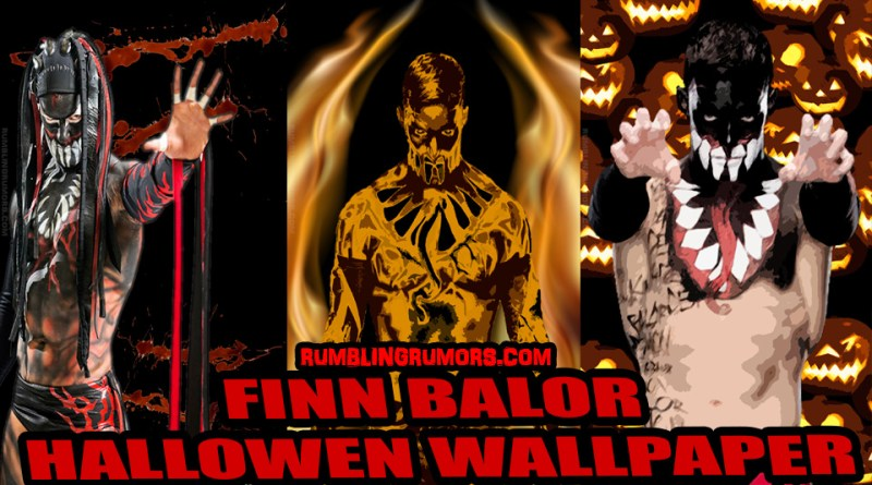 Finn Balor Halloween Mobile Wallpaper!