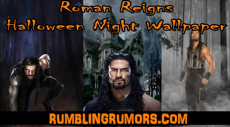 Roman Reigns Halloween Night Mobile HD Wallpaper.