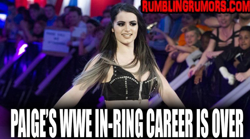 Update on Paige Not Being Cleared By WWE to Return to the Ring.