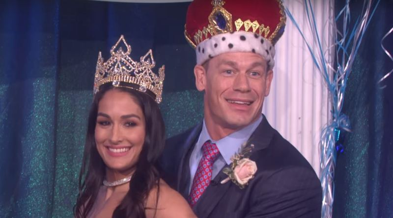 Nikki Bella Surprises John Cena On The Ellen Show.