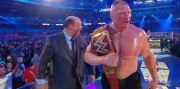 "Breaking: Brock Lesnar ""Throws Universal Title"" At Vince McMahon Following Wrestlemania 34 Match."