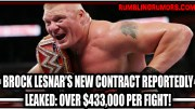 Brock Lesnars New Contract Reportedly Leaked: OVER $433.000 PER FIGHT!