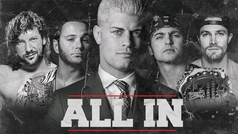 "Cody Rhodes and The Young Bucks Announce ""All In"" Show Broadcast Details"