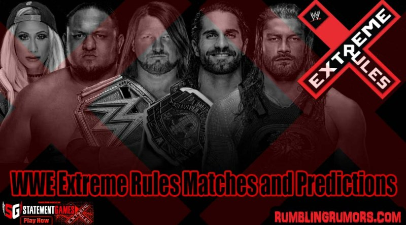 WWE Extreme Rules Matches and Predictions