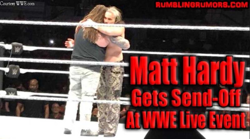 Matt Hardy Gets Send-Off At WWE Live Event (Photos)