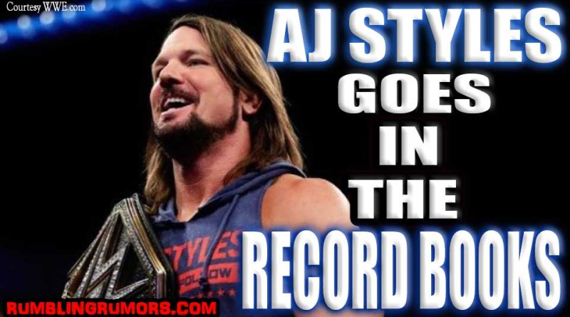 AJ STYLES GOES IN THE RECORD BOOKS