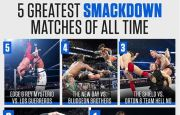 WWE Ranks Top 5 Smackdown Matches of All Time.