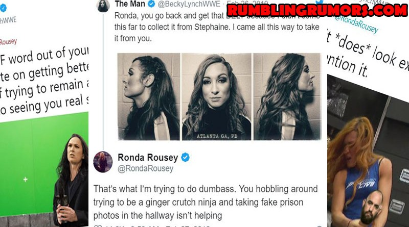 Becky Lynch and Ronda Rousey's NON PG Twitter Feud Goes Viral.
