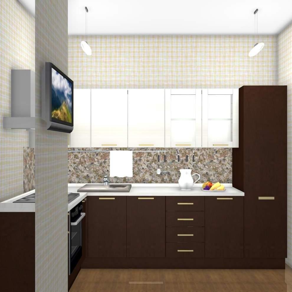 комната студия 18 кв м дизайн фото с кухней 5