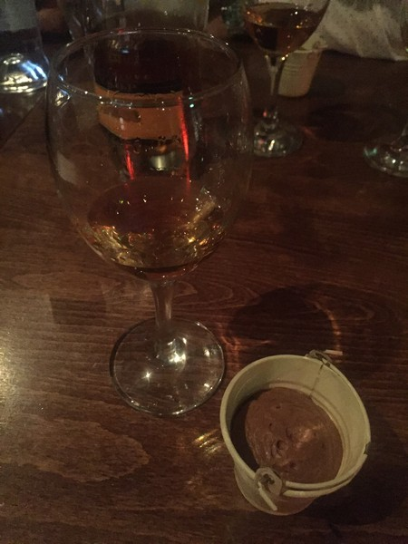 Hay-smoked chocolate mousse with Rhum Clément VSOP