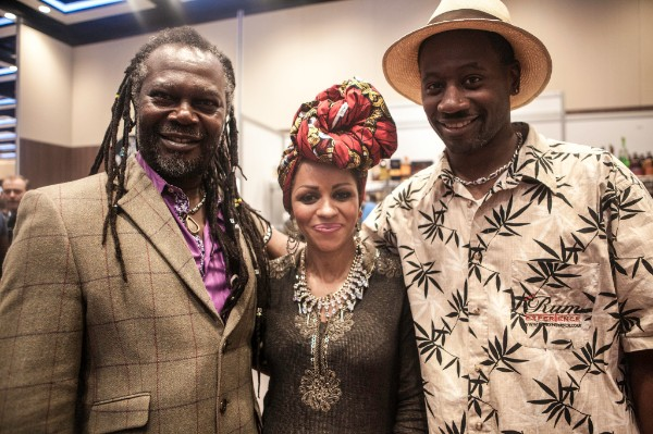 Levi Roots with RumFest founder Ian Burrell at RumFest 2016
