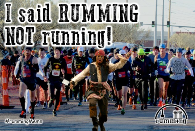 rumming not running - Jack sparrow & marathon