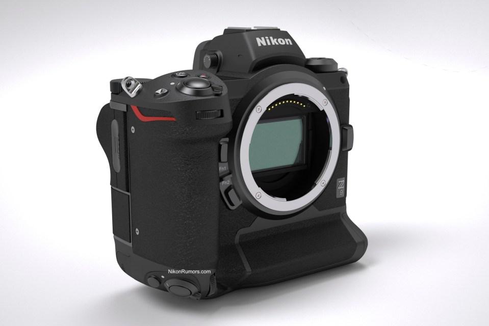 Mockup Render Model Kamera Nikon Z9 Ini Keren
