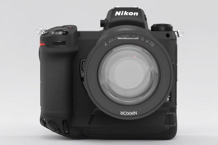 Mockup render kamera mirrorless Nikon Z9