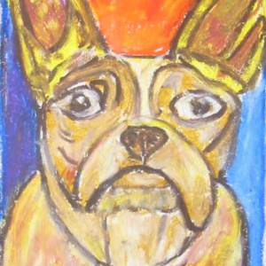 Artist Ron Burns Dog Portrait