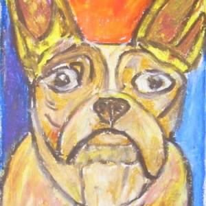 Artist Ron Burns Dog Portrait