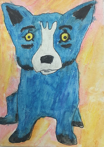 Rodrigue Blue Dog Drawing