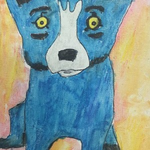 Rodrigue Blue Dog Drawing Project
