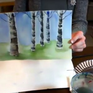Watercolor Birch Tree Project with MaryLeah