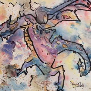 "How to PAINT a ""Tiptoeing Herald""  DRAGON (With a Shadow!) With Patti and Bella"