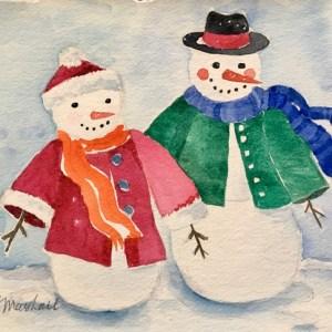 Snowman Watercolor Project
