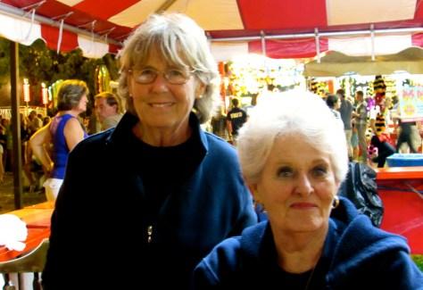 Patty Overman and Ann Dupree at the Fair Haven Firemen's Fair. Photo/Elaine Van Develde