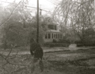 The 1973 ice storm in Fair Haven. Photo/Elaine Van Develde (age 12)