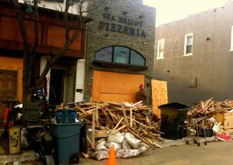 Hurricane Sandy damage in Sea Bright. Photo/Elaine Van Develde