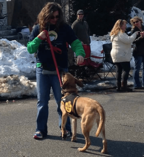 Gertie at the Rumson St. Patrick's Day Parade