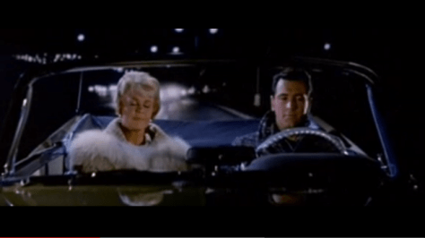 """Doris Day and Rock Hudson crossing the Oceanic Bridge in the movie """"Pillow Talk"""" Photo/screenshot of movie clip"""
