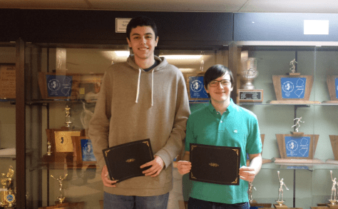 RFH seniors Nick Hawke and Andrew Maris were among the Future Business Leaders of America members honored for their achievements in this year's Regional Competition.  Photo/courtesy of RFH