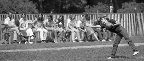 RFH girls of softball with Amy Connor pitching Photo/George Day