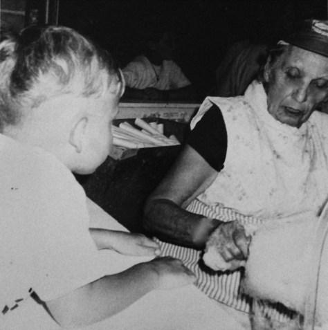 Millie Felsmann making cotton candy at the Fair Haven Firemen's Fair circa early 1990s Photo/Elaine Van Develde