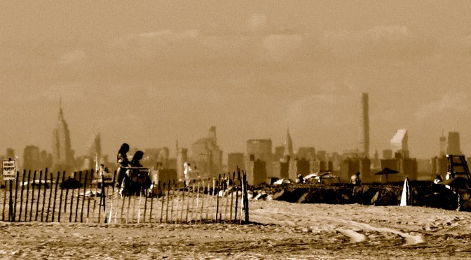 Black & White Focus: Skyline from Sea Bright Beach