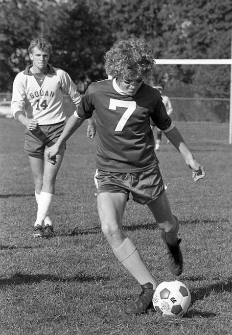 A swift soccer kick during the 1970s at RFH Photo/George Day