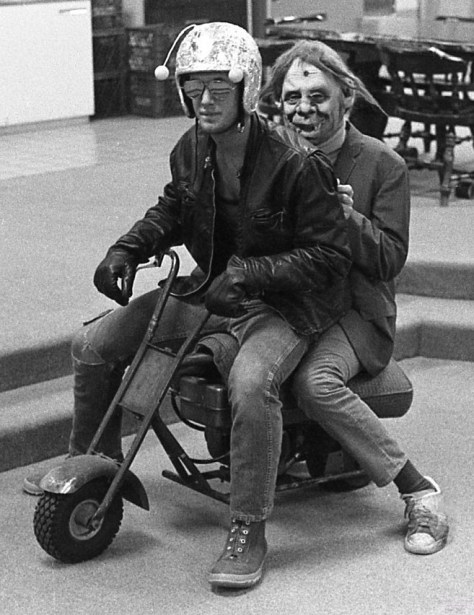 Riding with the wind — or something — at RFH in the 1970s Photo/George Day