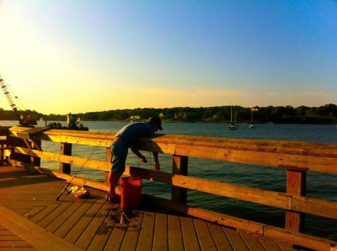 Crabbing at the Fair Haven Dock. Photo/Elaine Van Develde