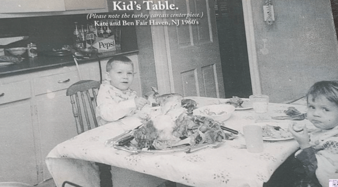 A Retro Happy Thanksgiving from the Kids' Table