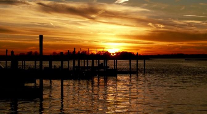 Focus: Fiery Sunset Over a Rumson Island