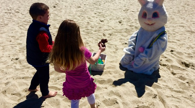 Focus: Sand, Surf, Eggs & Easter Bunny in Sea Bright