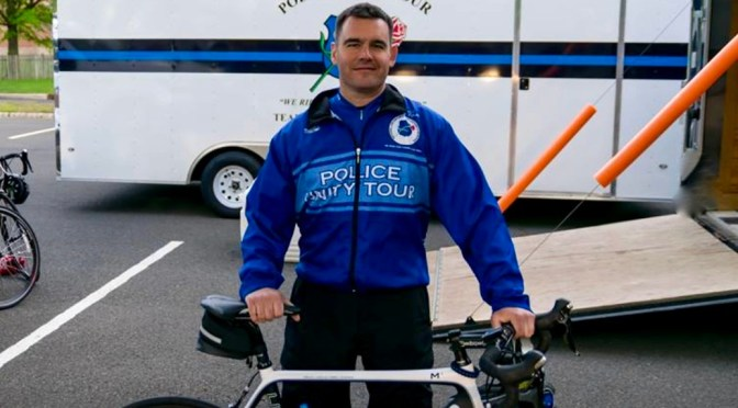 A Fair Haven Officer's Police Unity Tour Trek