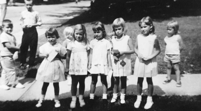 Retro Back-to-School Neighborhood Line-Up