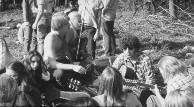 Retro Hippie Hill Hunt Scene