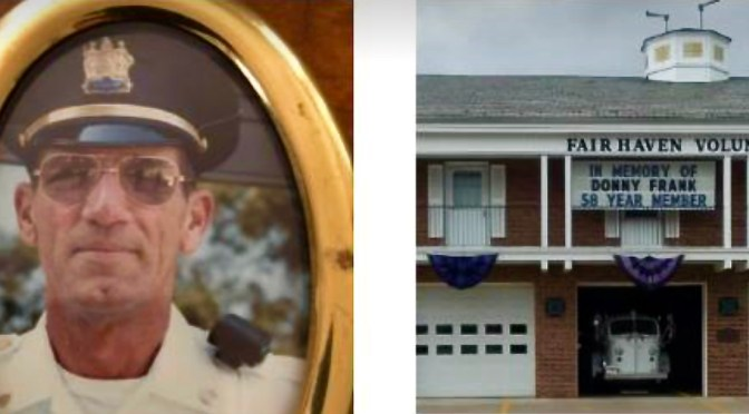 Remembering Fair Haven's Donny Frank, Police Officer, Fireman, Friend; Memorials Slated