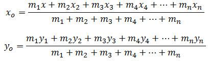 mencari titik berat dengan massa